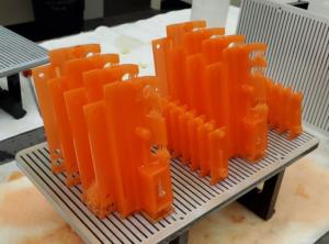 3D printed parts produced by Nexa3D printers