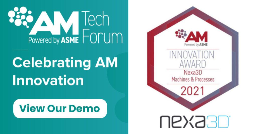 AM Innovation Award 2021 awarded to Nexa3D